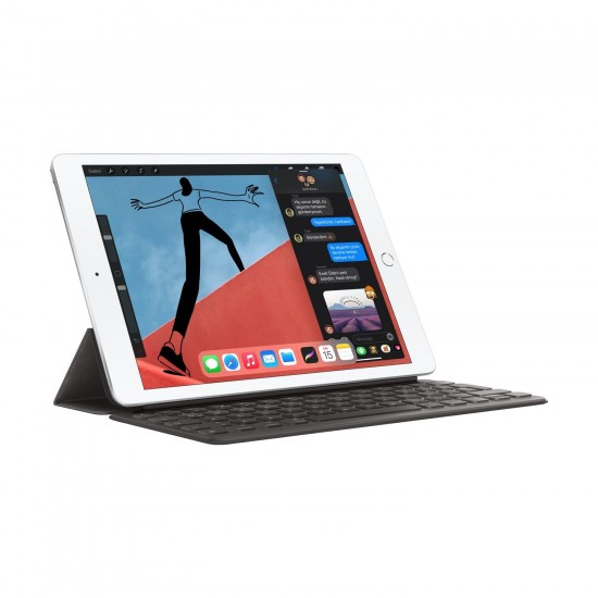 """Apple iPad 2020 (8. Nesil) Wi-Fi MYLA2TU/A 32 GB 10.2"""" Tablet(Apple Türkiye Garantili) Gümüş"""