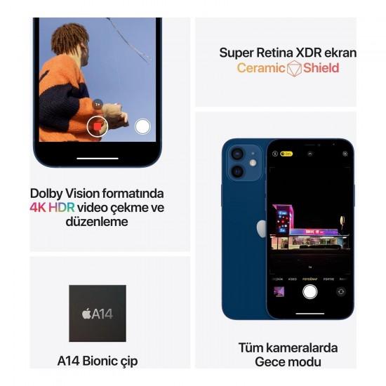 Apple iPhone 12 64 GB - Mavi (Apple Türkiye Garantili)
