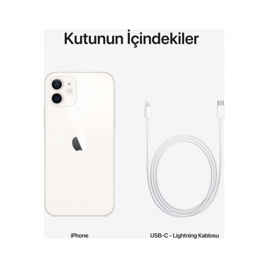 Apple iPhone 12 64 GB Beyaz (Apple Türkiye Garantili)