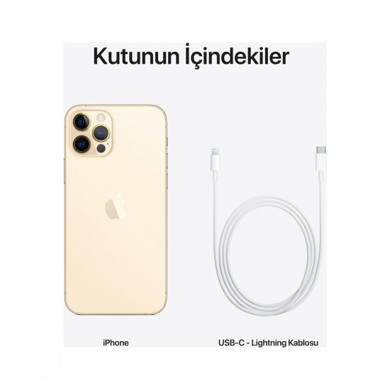 Apple iPhone 12 Pro 128 GB-Gold (Apple Türkiye Garantili)