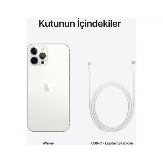 Apple iPhone 12 Pro Max 256 GB - Gümüş (Apple Türkiye Garantili)