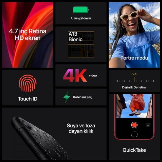 Apple İPhone SE 64 GB SİYAH (Apple Türkiye Garantili ) - Aksesuarlı Ürün