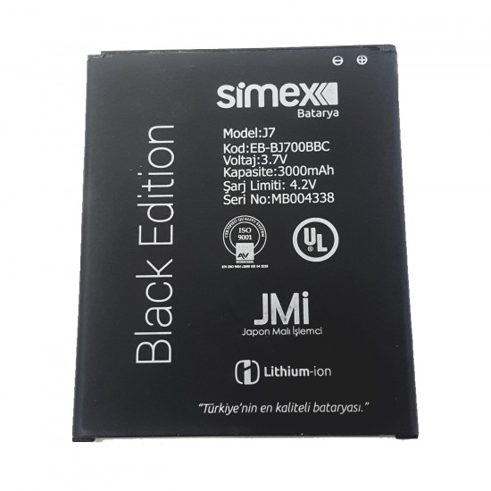 Simex Samsung Galaxy J7 Batarya
